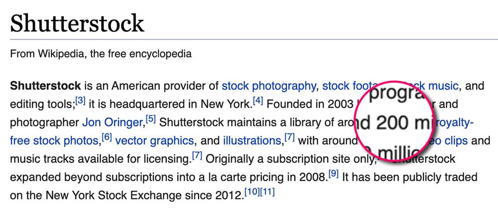 שאטרסטוק ויקיפדיה